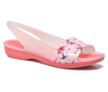 ColorBlock Soft Floral Flat W Sandalen in rosa