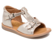 POPPY BUCKLE Sandalen in silber