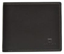 TOURAINE Portebillets poche monnaie rabat Portemonnaies & Clutches für Taschen in braun