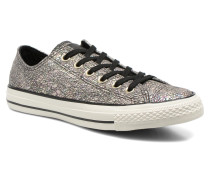 Chuck Taylor All Star Ox Oil Slick Leather W Sneaker in silber