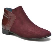 JOTINI *Multi Ch Vel PRUNE ~Doubl & 1ere CUIR Stiefeletten Boots in weinrot