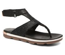 Torpeda Ankle Strap Sandalen in schwarz