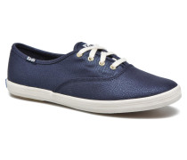 Ch Metallic Canvas Sneaker in blau
