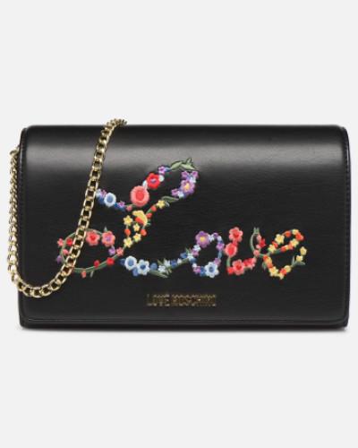 EVENING BAG FLOWERS LOVE Handtasche in schwarz
