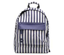 Premium Seaside Stripe Backpack Rucksack in blau