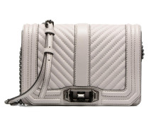 CHEVRON QUILTED SMALL LOVE CRO Handtasche in grau