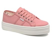 Blucher Lona Plataforma Sneaker in rosa