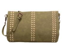 Pochette détail tresse Handtasche in grün