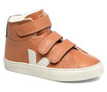 Esplar Mid Small Velcro Fured Sneaker in braun