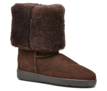 Tall Sheepskin Pug Boot W Stiefeletten & Boots in braun