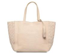 Cabas Parisien Mm Tresse Cotes Handtaschen für Taschen in beige