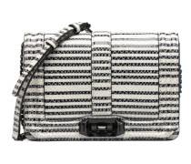 Striped Snake Small Love Cross Handtaschen für Taschen in schwarz