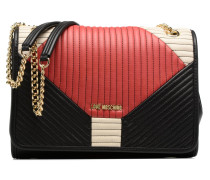Double porté Quilted Patchwork Handtaschen für Taschen in schwarz
