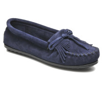 KILTY SUEDE MOC Slipper in blau