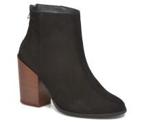 Dorthe Leather Boot Stiefeletten & Boots in schwarz