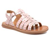 Plagette Strap Sandalen in rosa