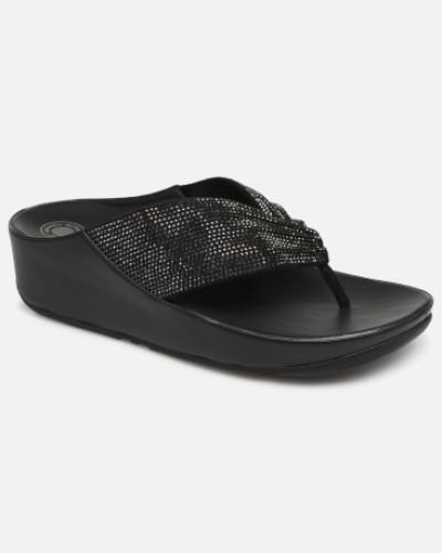 Twiss Crystal Clogs & Pantoletten in schwarz