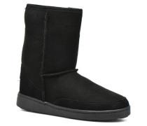 Short Sheepskin Pug Boot W Stiefeletten & Boots in schwarz