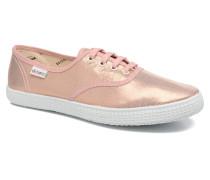 Ingles Tejido Tornosolado Sneaker in rosa
