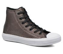 Chuck Taylor All Star II Hi Perf Metallic Leather Sneaker in schwarz