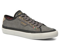 Veneto Canvas Low Sneaker in grau