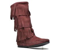 3 Layer Fringe Bt Stiefeletten & Boots in weinrot