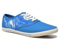 JJSpider Canvas Palm Print Sneaker in blau