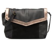 Isaura Leather Crossbody L Handtasche in schwarz