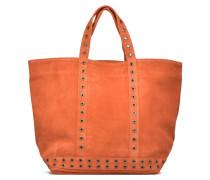 Cabas cuir velours œillets L Handtaschen für Taschen in braun