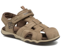 Oak Bluffs Leather Fisher Sandalen in grau