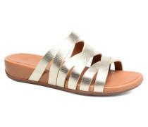 Lumy Leather Slide Clogs & Pantoletten in goldinbronze