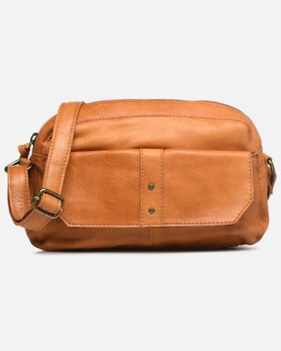 BROOKE LEATHER SMALL CROSCCBODY Handtasche in braun