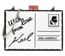 Postcard Minaudière Handtaschen für Taschen in weiß