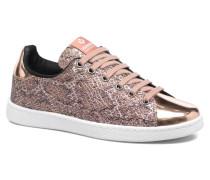 Deportivo Glitter Serpiente Sneaker in rosa