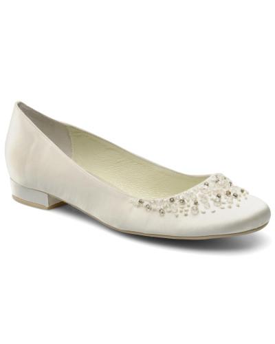 Menbur Damen Carmichael Ballerinas in weiß