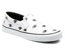 Velvet Sneaker in weiß