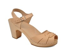 Peep toe super high Sandalen in beige