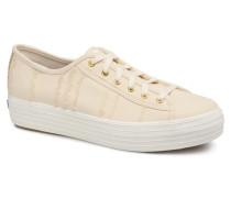 Triple Kick Eyelash Canvas Sneaker in beige
