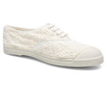 Tennis Broderie Anglaise Sneaker in weiß