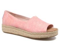 Open Toe Platform Alp Espadrilles in rosa