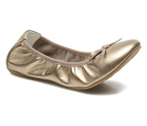 Veridiana Ballerinas in goldinbronze