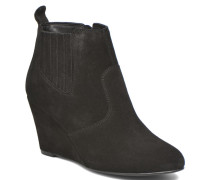 Lone Leather Wedge Boot Stiefeletten & Boots in schwarz