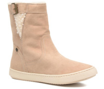 Black Mid Stiefel in beige