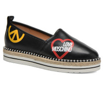 Cut Out Logo Espadrille Espadrilles in schwarz