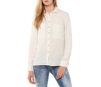 Bluse Weiß