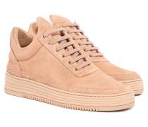 Monotone Stripe Nude Low Top Damen Sneaker Rosa