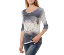 Peaceful Round T-Shirt Dunkelblau