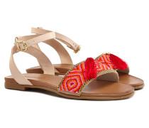 Sandalen Damen Rot