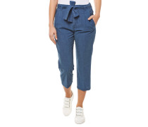 Crop Relaxed Fit Jeans Blau