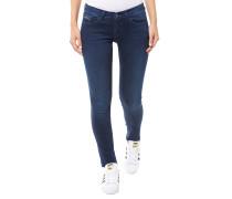 Mid Rise Skinny Jeans Dunkelblau